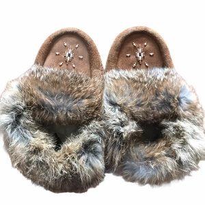 Manitobah Mukluks Kids Moccasins Slippers Fur